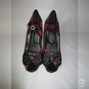 T.U.K Shoes - TUK Rockabilly Pin Up Shoes Kiss Heels VLV 10